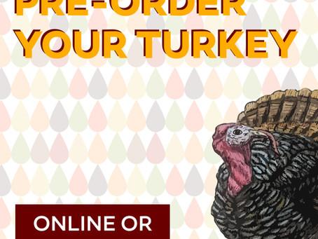 Don't Wait! Your Thanksgiving Bird Awaits 🐓 Réservez votre Dinde!