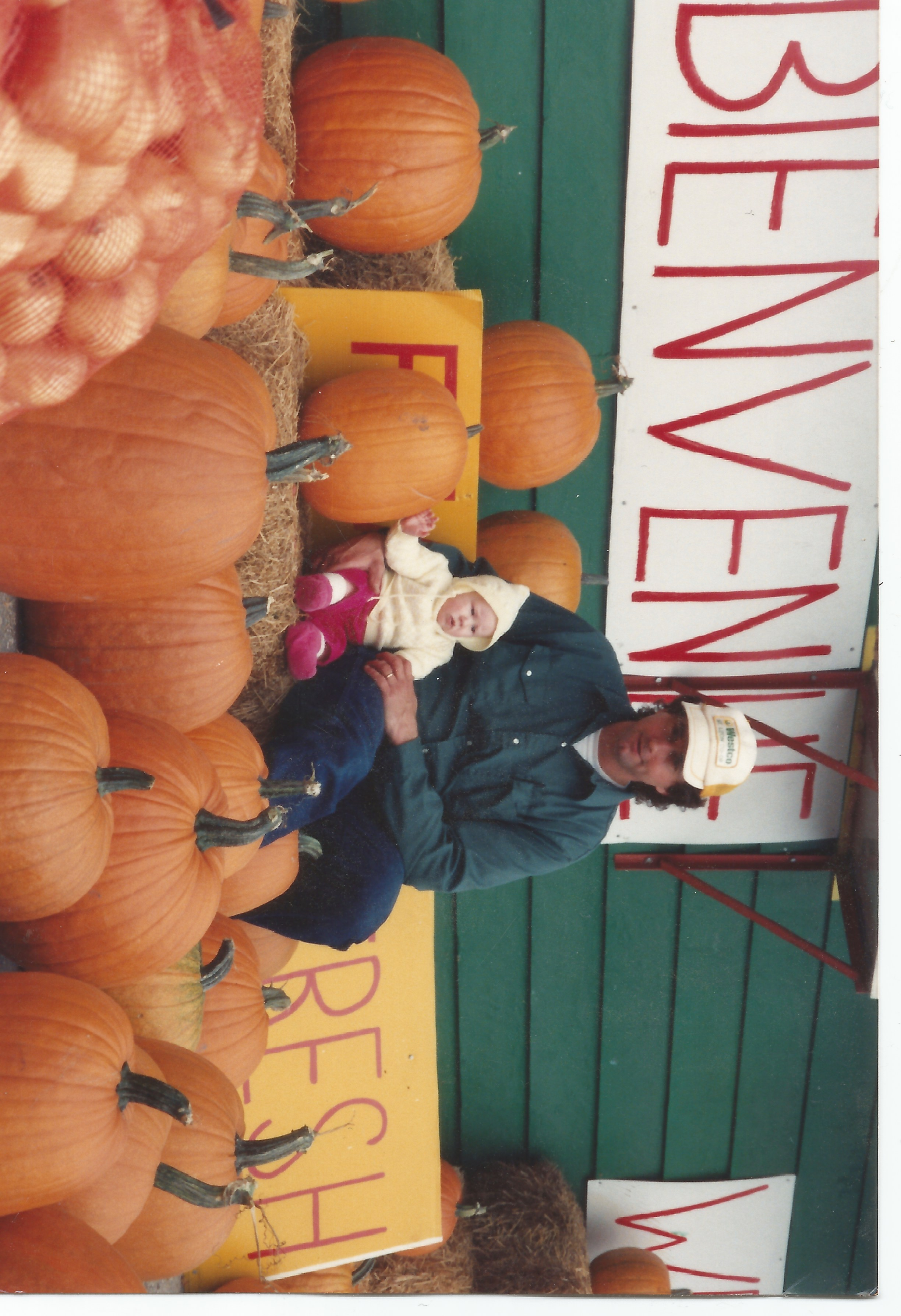 cute girl in pumpkins winnipeg