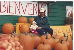 cute girl in pumpkins winnipeg