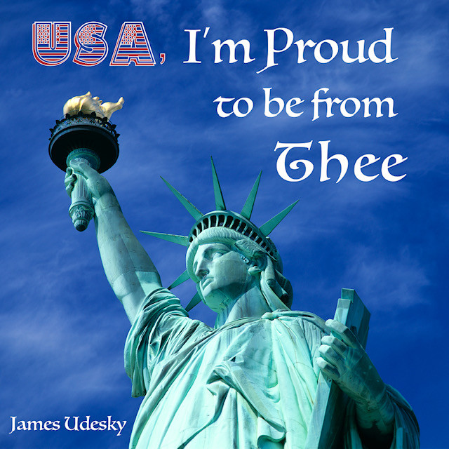 James Udesky - USA, I'm Proud to be from Thee CD Cover 12/15/18
