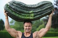 Big man, big gourd
