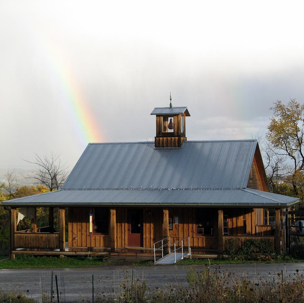 rainbow over Gourdlandia