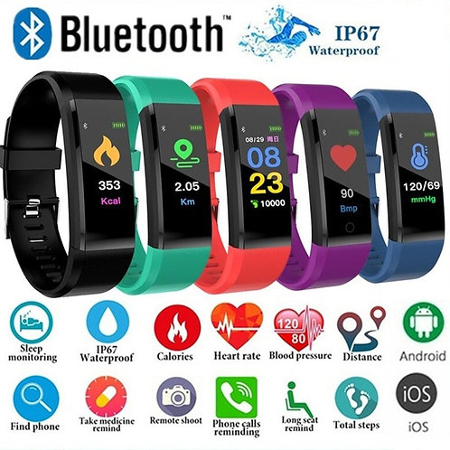 Fitness, Sleep, Heart Rate and Blood Pressure Tracker