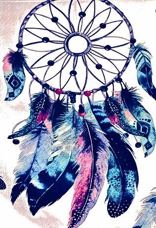 purple and blue dreamcatcher