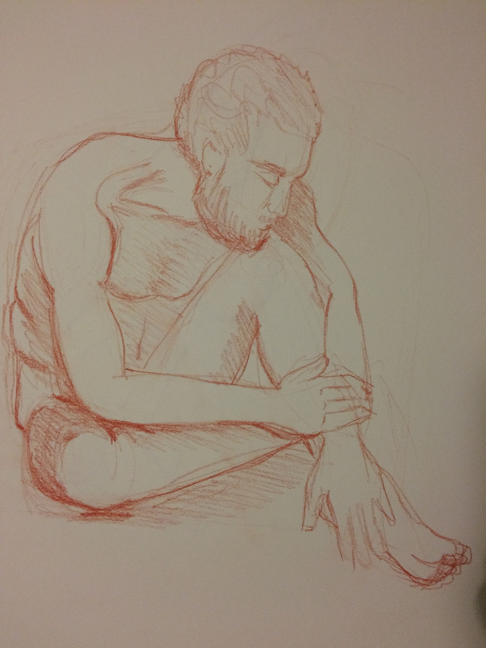 A 15min male pose drawin by Julia P Ames