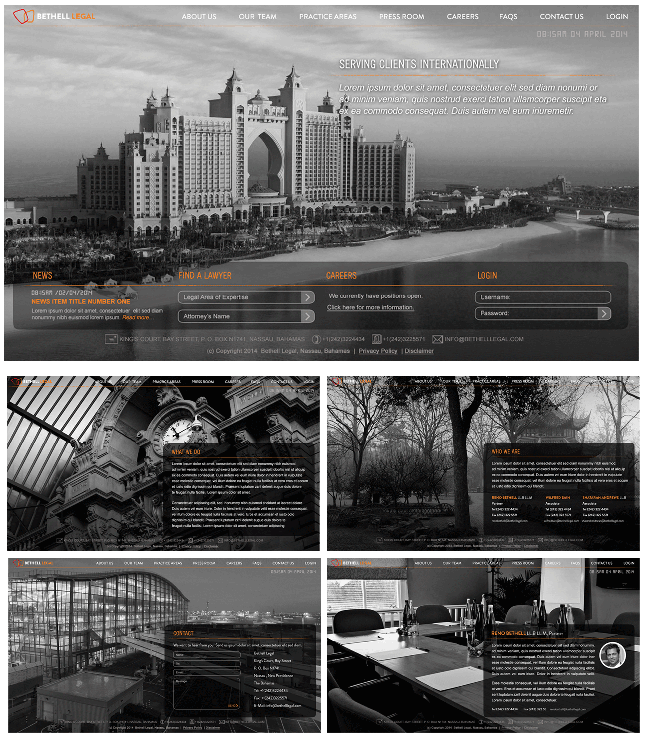 Bethell Legal website mock up