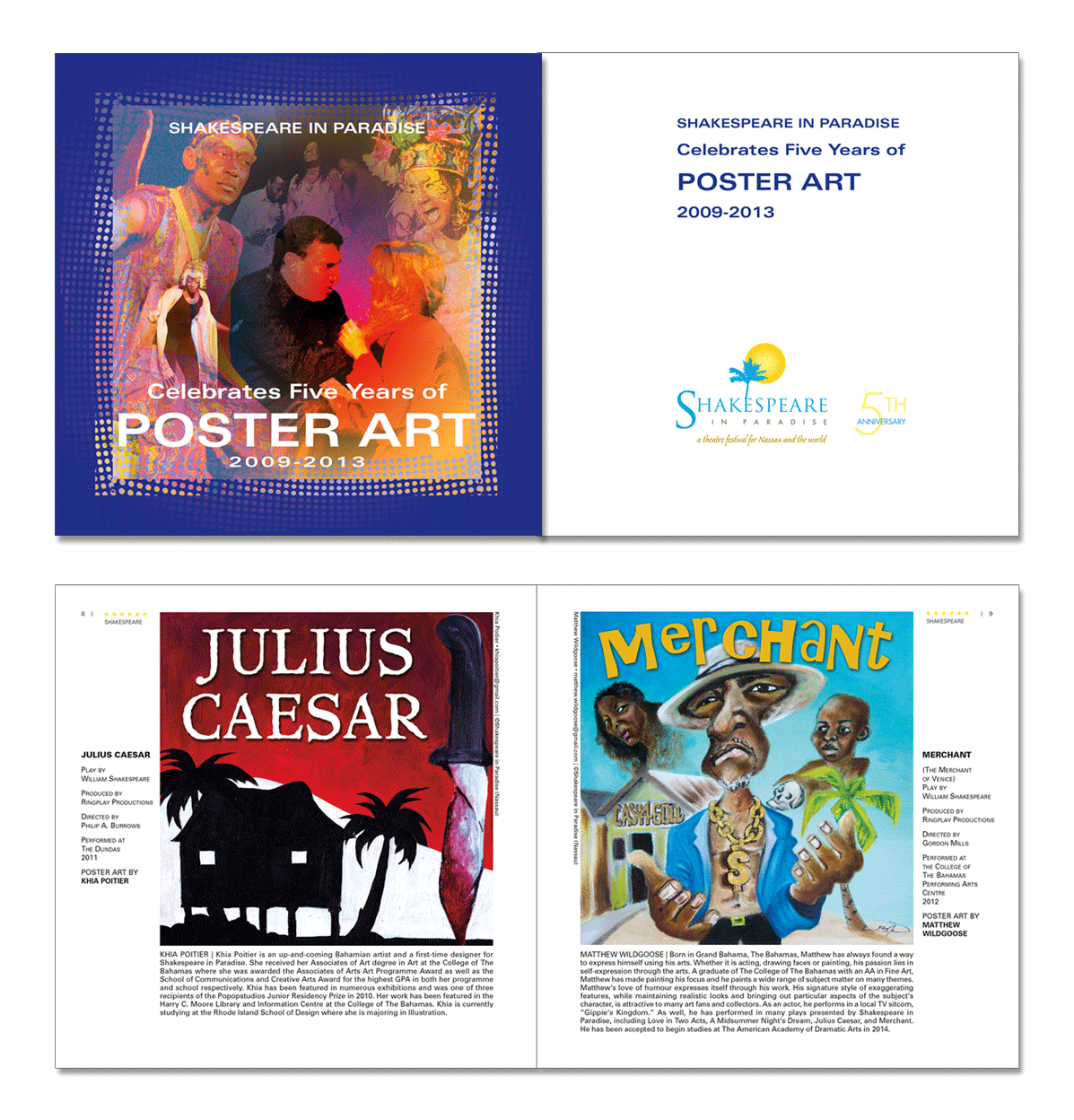 Exhibition catalog for poster art