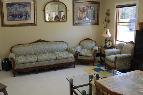 Antique Style Sofa And Pair Of Armchairs