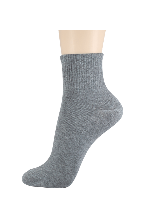 Women's Thin Quarter Socks Grey