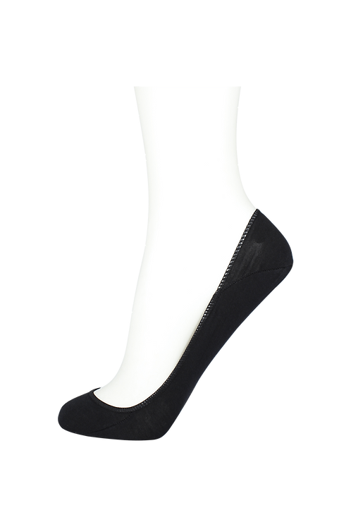 Women's Cotton No Show Socks Non Slip Black