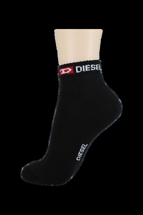 Men's Cushion Ankle Diesel Socks Black