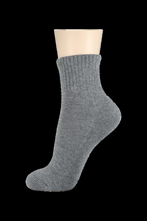 Men's Cushion Quarter Socks Grey