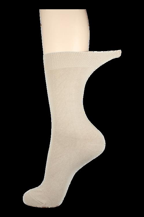 Women's Loose Top Socks Creme