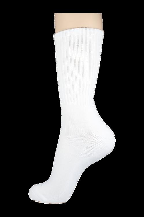 Men's Cushion Long Socks White