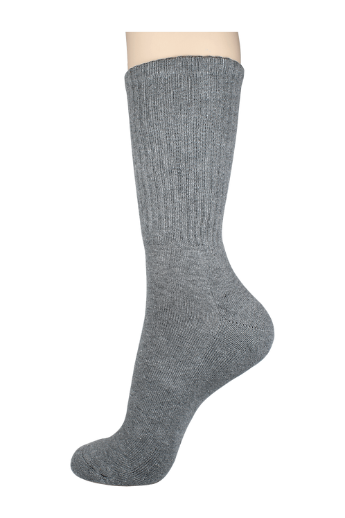 Men's Cushion Long Socks Grey