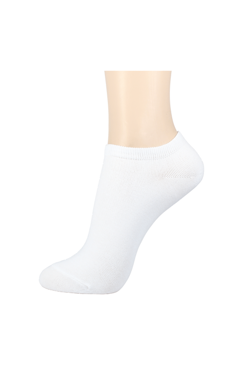 Men's Thin Cotton Low Cut Socks White