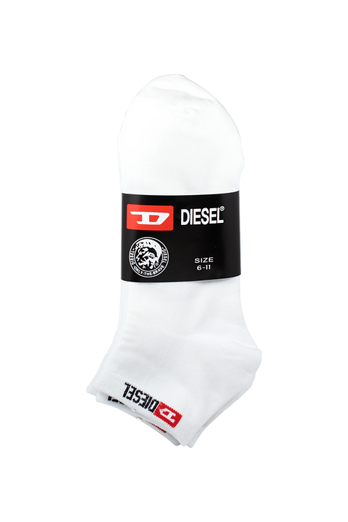 Women's Thin Cotton Ankle Diesel Socks White (4 in Pack)