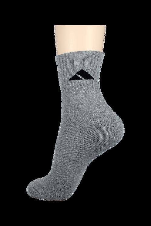 Men's Cushion Quarter Socks Tri Grey
