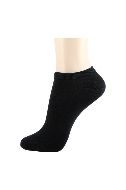 Men's Thin Cotton Low Cut Socks Black