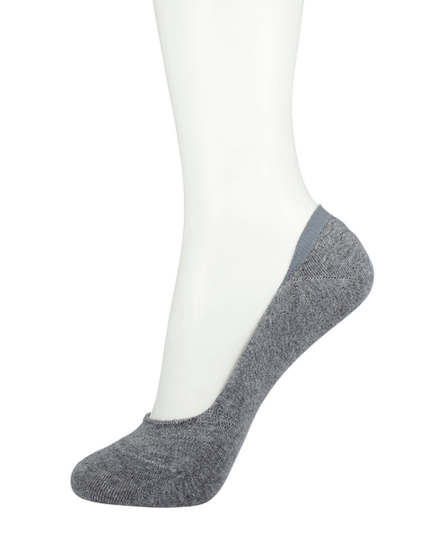 Women's Cotton No Show Socks Grey