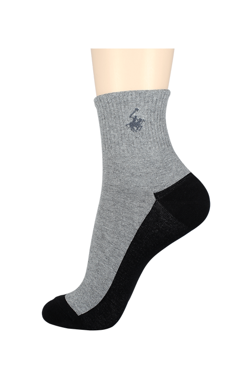 Women's Thin Quarter Socks Horse Grey/Black