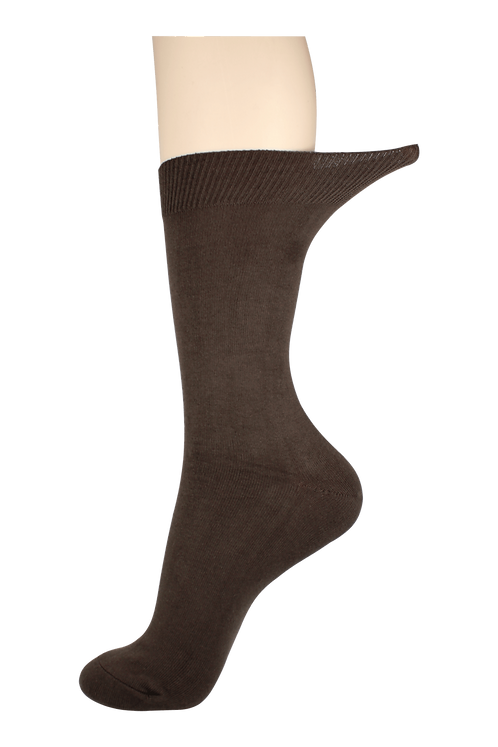 Women's Loose Top Socks Brown