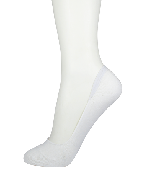 Men's Cotton No Show Socks White