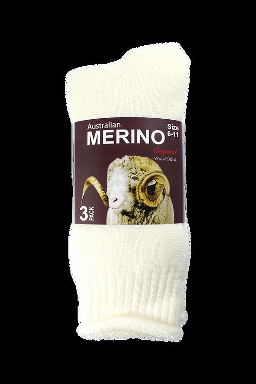Men's Merino Socks Creme (3 in Pack)