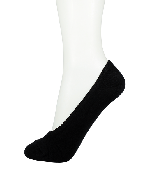 Men's Cotton No Show Socks Rubber Top Black