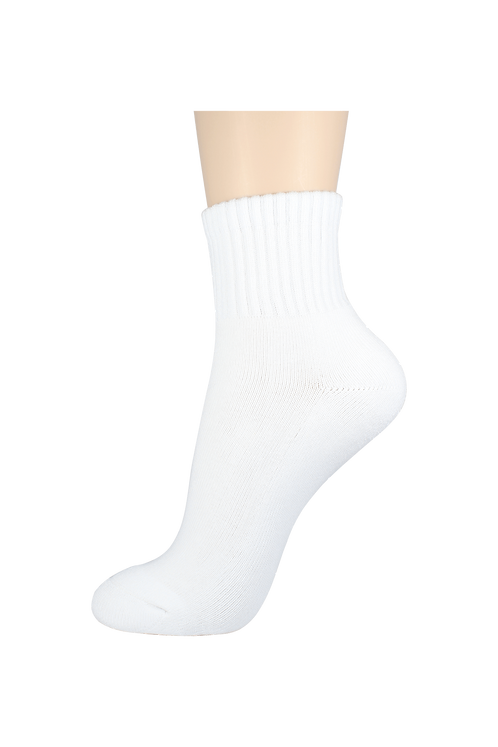 Men's Cushion Quarter Socks White