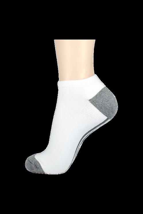 Men's Cushion Low Cut Socks White/Grey