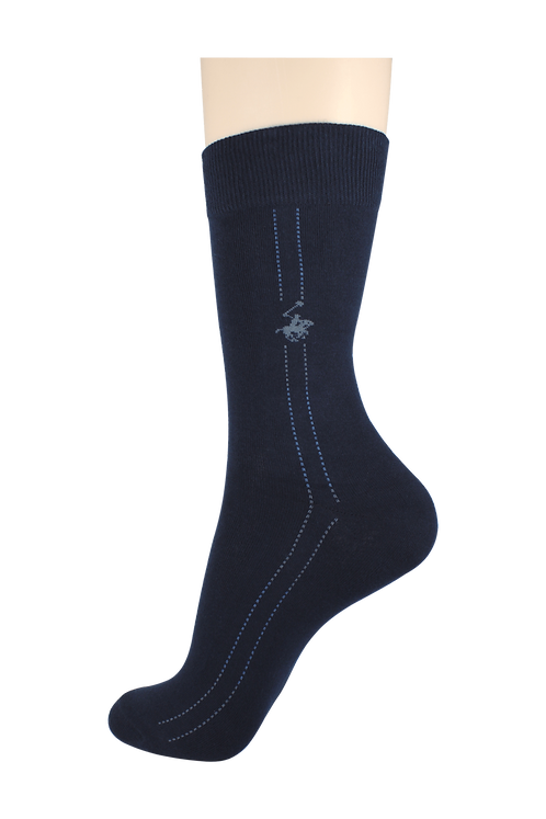 Men's Pattern Dress Socks Horse Navy
