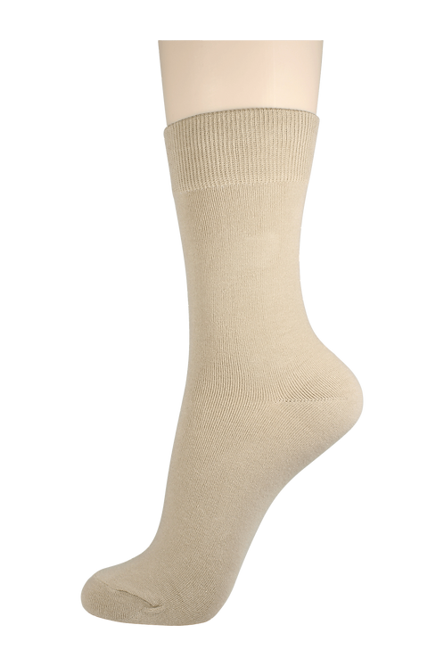 Women's Cotton Dress Socks Creme