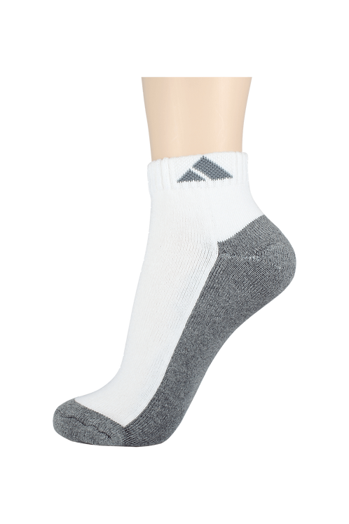 Women's Cushion Ankle Socks Tri Grey
