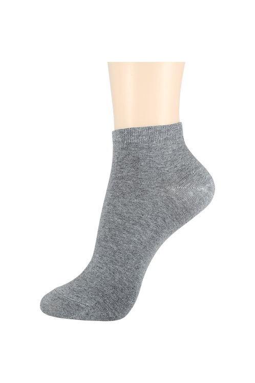 Women's Thin Cotton Ankle Socks Grey