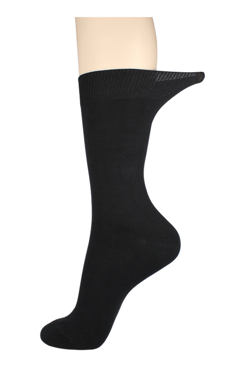 Women's Loose Top Socks Black