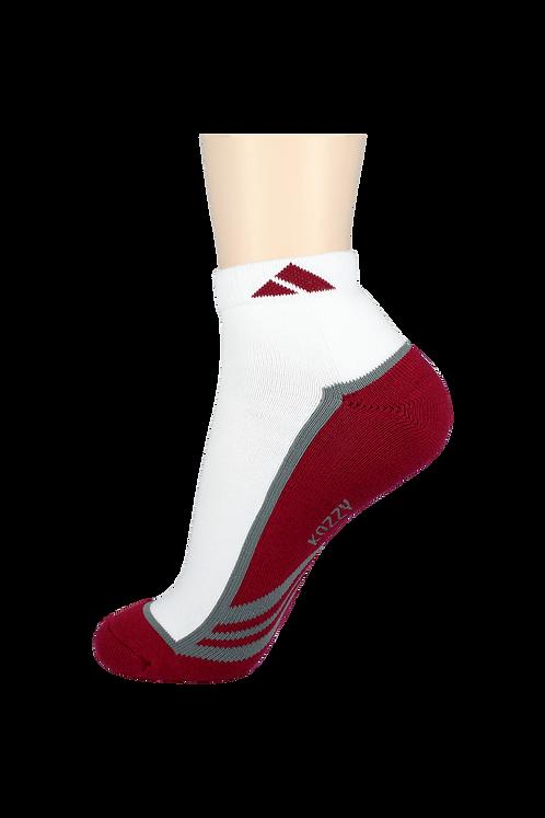 Men's Cushion Ankle Socks Tri Red