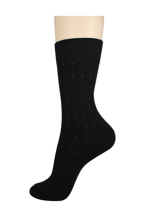 Men's Pattern Dress Socks Dots Black