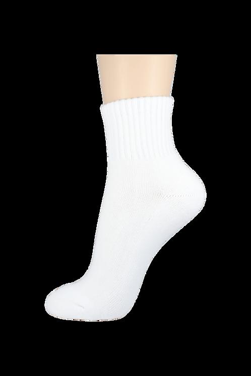 Women's Cushion Quarter Socks White