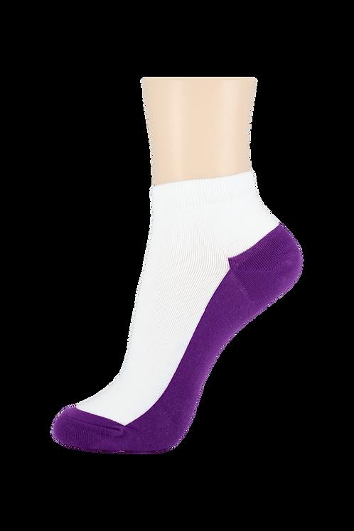 Women's Thin Cotton Ankle Socks 2 Tone Purple