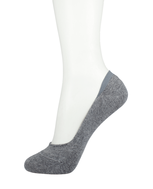Men's Cotton No Show Socks Grey