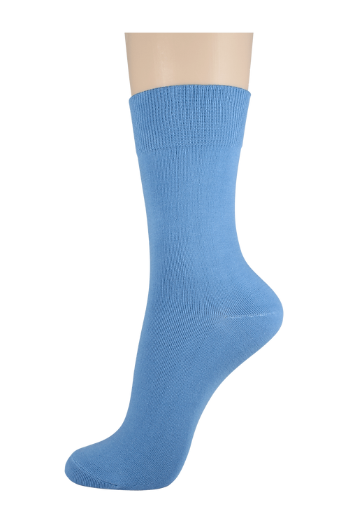 Women's Cotton Dress Socks Sky Blue