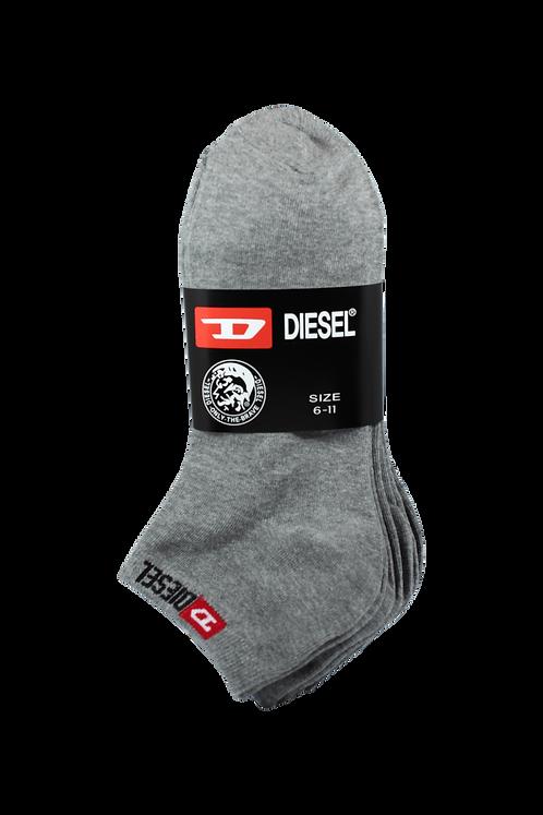 Women's Thin Cotton Ankle Diesel Socks Grey (4 in Pack)