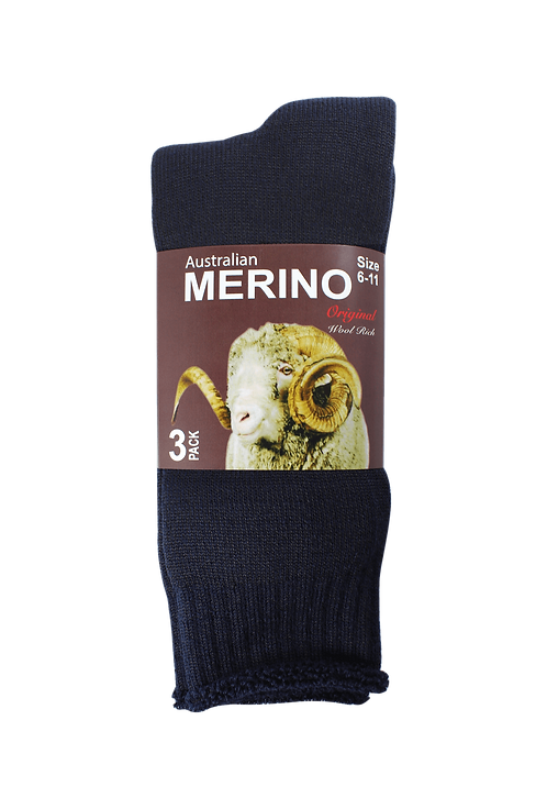 Men's Merino Socks Navy (3 in Pack)