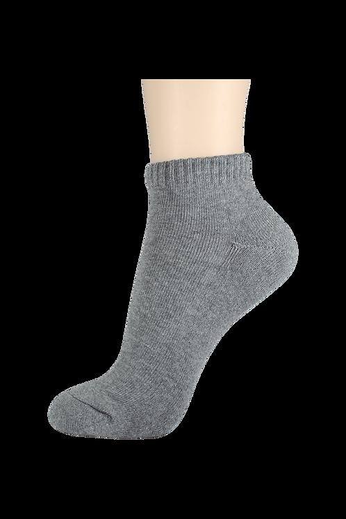 Women's Cushion Ankle Socks Grey