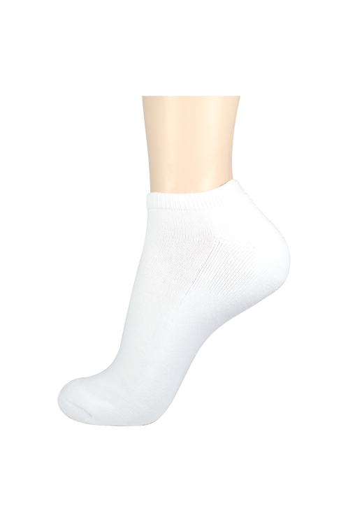 Men's Cushion Low Cut Socks White