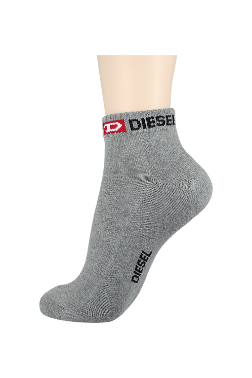 Women's Cushion Ankle Diesel Socks Grey