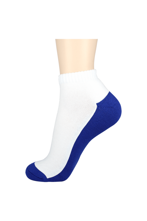 Men's Cushion Ankle Socks 2-Tone Blue