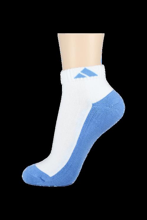 Women's Cushion Ankle Socks Tri Blue