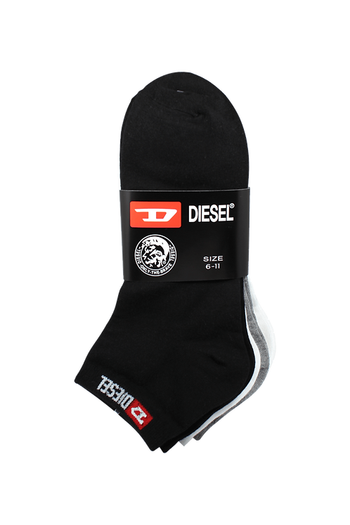 Men's Thin Cotton Ankle Diesel Socks Assorted (4 in Pack)